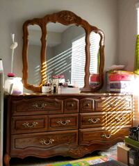 brown wooden dresser with mirror Moorpark, 93021