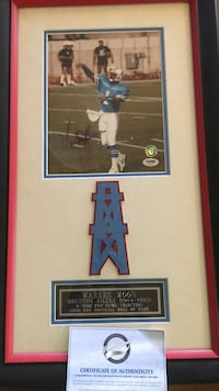 Red wooden framed Warren Moon photo Copperas Cove, 76522