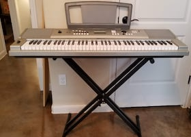 Yamaha, YPG-235 76-Key Portable Grand Keyboard Bundle with Stand and Power Adapter