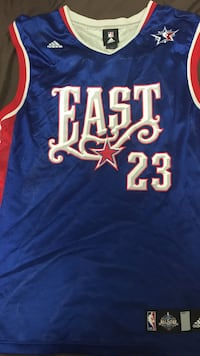 blue, red, and white East 23 LeBron James All Star jersey Richmond Hill, L4S