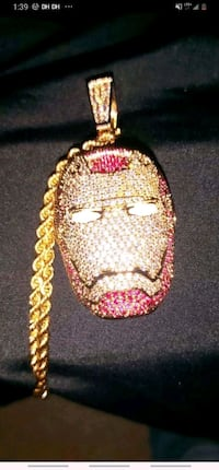 Iced out Iron man chain an Make offer New Westminster, V3L 1X7