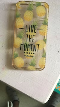 Imprimé ananas Live The Moment iPhone case