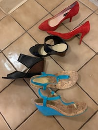 Size 8.5 heels and wedges