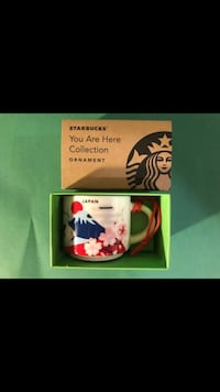 One Japan Starbucks You Are Here YAH Collection 2 Oz Mug Shaped Ornament Vancouver, V5X 1A7