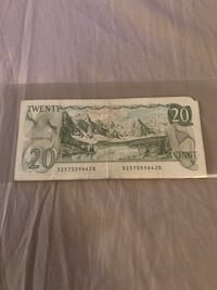 Vintage Rare Circulated 1979 Canadian 20 Dollars Bill! Richmond, V6Y 4K6