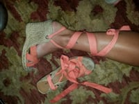 Lace up wedges size 8 Oklahoma City, 73108