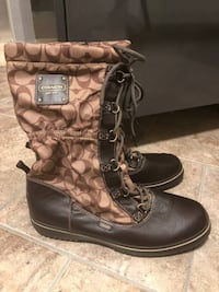 Brand New Coach Women's Lace Up Cold Weather Boots $80