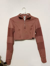 50% OFF -Forever 21 Small Mauve Long Sleeve Crop Active Jacket/Shirt Fort Worth, 76110