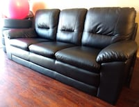 Black leather 3-seat well maintained recently boug Henrico, 23229