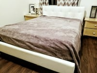 Queen size bed with frame and mattress