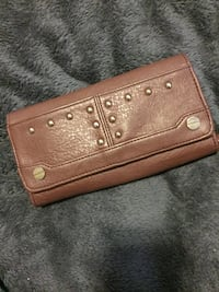 brown leather studded long wallet Chatham, N7L 1G3