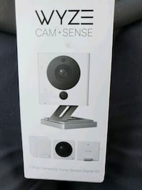 Wyze security camera with motion sensors