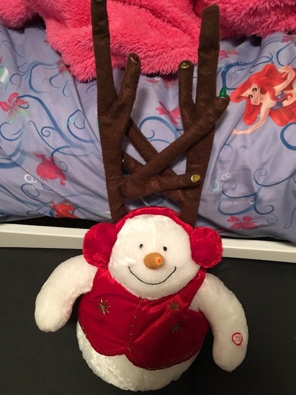 Holiday snowman light up and sing plush  32e3e41a-5783-488a-ba85-0f417e867c78