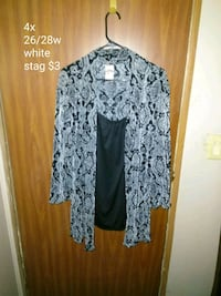 women's gray and black floral skirt 653 mi
