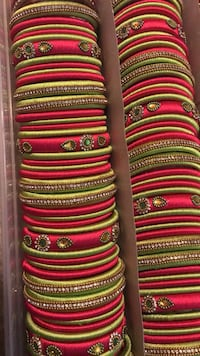 Pink, yellow, and green stripe textile Calgary, T3J 4A1