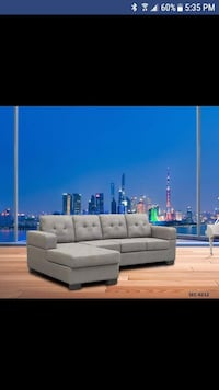Modern grey fabric sectional on sale