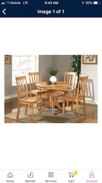 Brown wooden dining table set Chicago