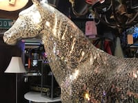 Mirrored Mosaic Horse Life-size