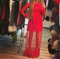women's red long-sleeved dress Edmonton, T5X 6J9
