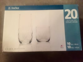 20 Piece Anchor Glasses