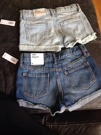 two blue and gray denim short shorts Winnipeg, R2W 1V6