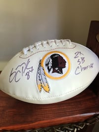 Gary Clarke signed football Columbia, 21029