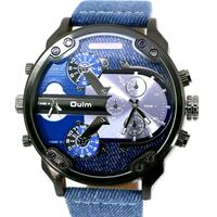 round silver chronograph watch with blue strap Washington, 20057