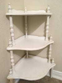 white wooden 2-layer side table Boerne, 78006