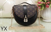black and brown Louis Vuitton monogram leather crossbody bag Montréal, H4H 2E8