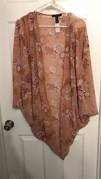 brown and white floral long-sleeved dress 1293 mi