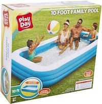 Play Day Deluxe 10 Foot Family Swimming Pool - BRAND NEW - 120x22x72