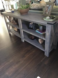 Gray wooden console table