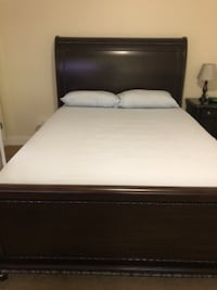 Espresso Queen sleigh bed WASHINGTON