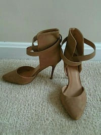 pair of brown leather ankle strap heeled sandals Fairfax, 22030