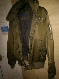 brown leather zip-up jacket West Midlands, B6 5PL