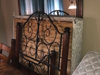 Headboard and footboard. Cherry wood and steel Fort Worth, 76244
