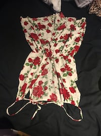 women's white and red floral sleeveless dress Toronto, M6N 2A9