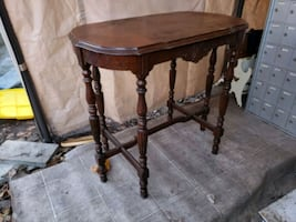 Hallway entryway side accent table antique