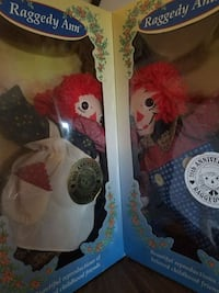 Raggedy Ann and Andy collectable doll boxes