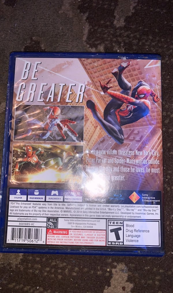 spider man for the PS4 79ee6bf1-4887-4b1a-9212-10a1eacf4219