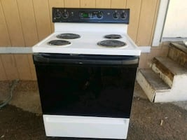 Electric stove white and black