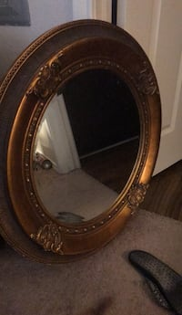 oval brown wooden framed mirror Frisco, 75034