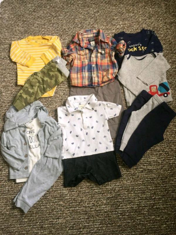 toddler's assorted clothes 9 months