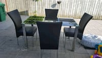 black and gray table with chairs Mississauga, L5P