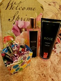 Cosmic rose, lipstick, Bath & Body set