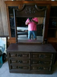 brown wooden dresser with mirror Panama City, 32401