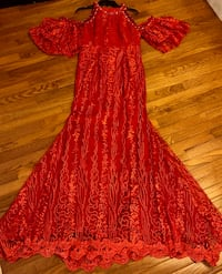 Red Lace African Gown  Alexandria