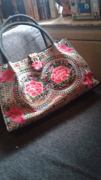 Embroidered  large purse Vancouver