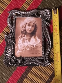Brand new Art Nouveau style pewter photo frame