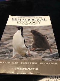 An Introduction to Behavioural Ecology 4th Edition Oakville, L6L 6W5